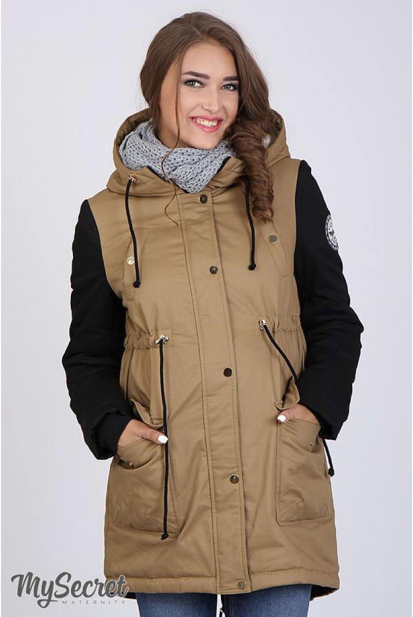 Куртка-парка Lex беж+чорний для вагітних