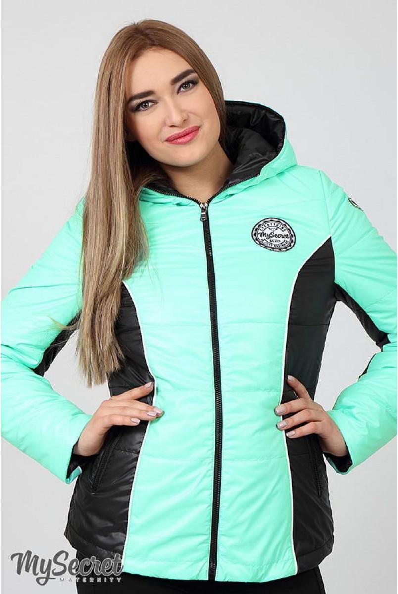 Демісезонна куртка Lemma (м'ятний + чорний) для вагітних
