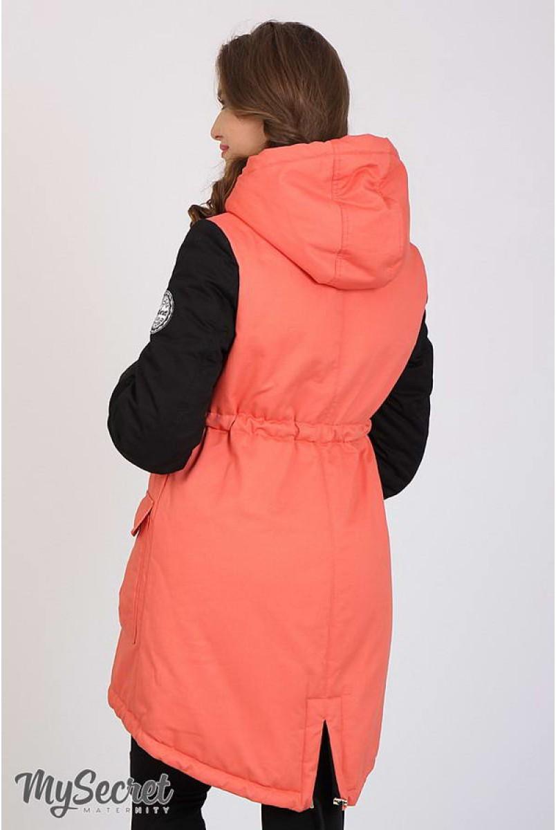 Куртка-парка Lex коралл+черный для беременных