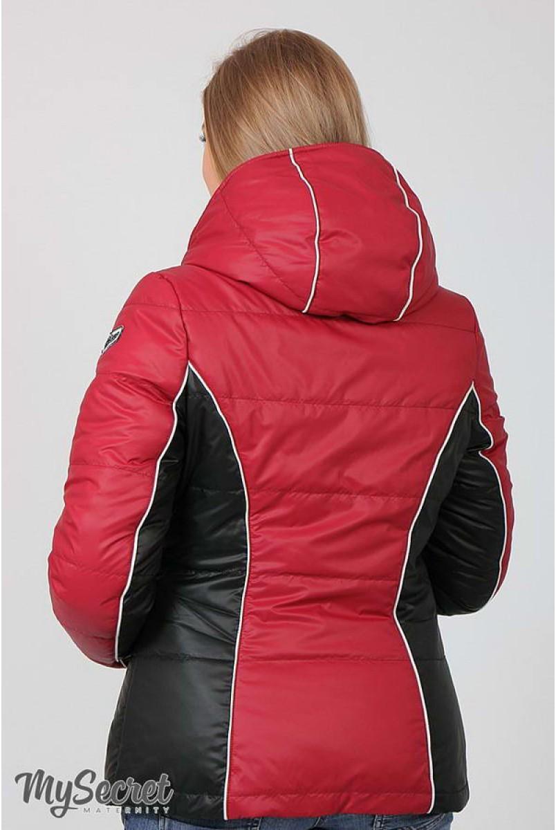 Демисезонная куртка Lemma (ягодный + черный) для беременных