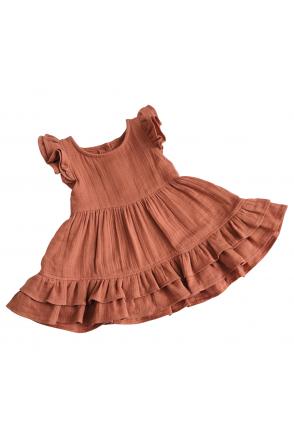 Платье муслиновое для девочки Embrace терракотовое