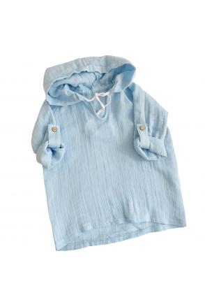 Туника муслиновая для детей Embrace голубая