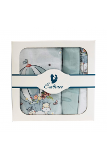 Комплект дитячої постільної білизни Embrace звірятка на повітряних кулях