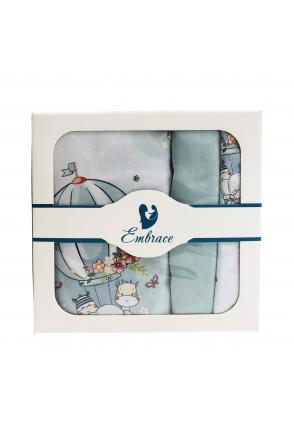 Комплект детского постельного белья Embrace Зверушки на воздушных шарах