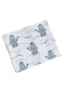 Пелюшка муслінова для дітей Embrace бегемоти моряки