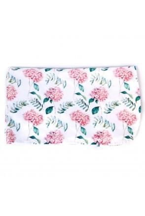 Пеленка непромокаемая сатин Гортензия нежно-розовая