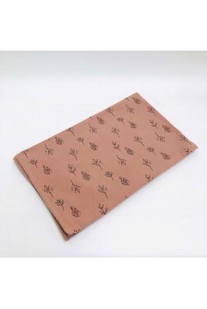 Фланелевая пеленка веточки на розовом