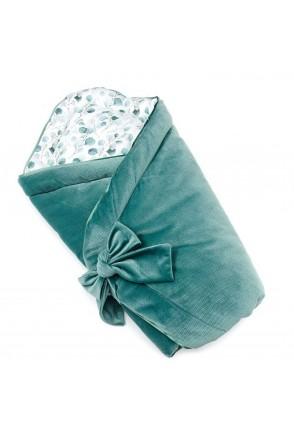Конверт для новорожденных Зеленые листочки