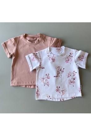 Набор футболок для детей Boonyx Dusty Rose+Cherry Blossom
