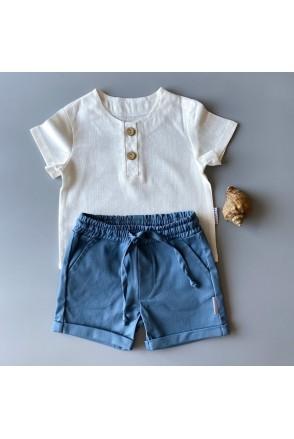 Набор для мальчиков Boonyx шорты Jeans + футболка Milk