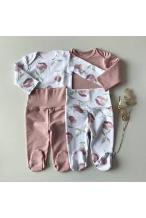 Набор боди + ползунки для детей Boonyx Peonies+Rose