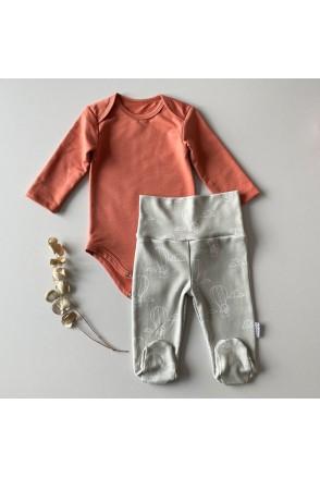 Набор боди + ползунки для детей Boonyx Brick+Puppies
