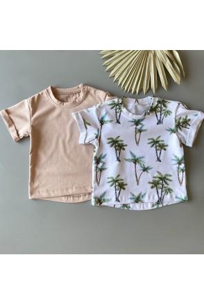 Набор футболок для детей Boonyx Beige +Palms