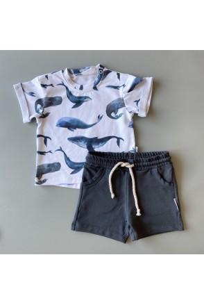Набор для детей Boonyx шорты Monsoon + футболка Whales