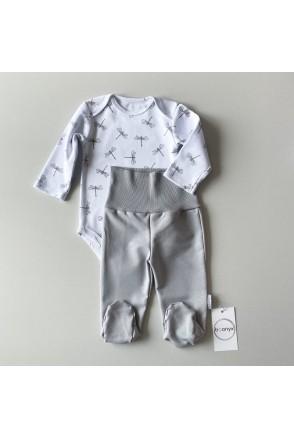 Набор боди + ползунки для детей Boonyx Fly+Gray