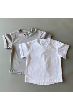 Набор футболок для детей Boonyx Basic Gray+White