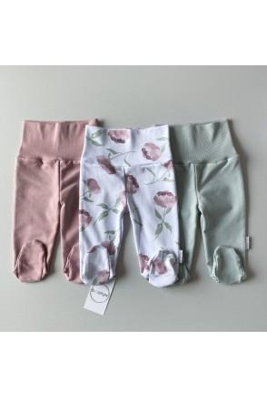 Набор штанов/ползунков для детей Boonyx Mint+Rose+Peonies