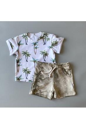 Набор для детей Boonyx шорты Tie Dye + футболка Palms