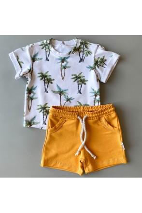 Набор для детей Boonyx шорты Mustard + футболка Palms
