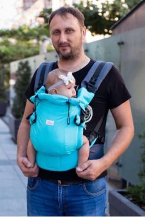 Эрго-рюкзак Adapted TURQUOISE (БИРЮЗОВЫЙ)