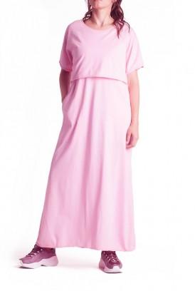 Сукня арт. S200101 рожева для вагітних і годування