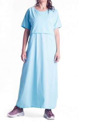 Сукня арт. S200102 блакитна для вагітних і годування
