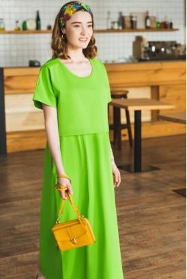 Сукня арт. S200204 салатова для вагітних і годування