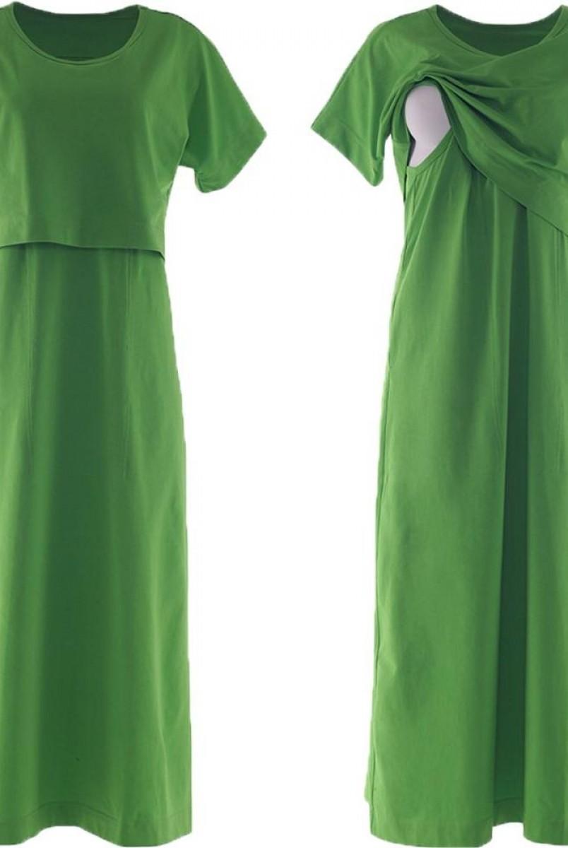Платье арт. S200204 салатовое для беременных и кормления