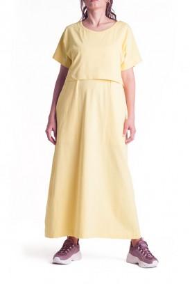 Сукня арт. S200206 світло-жовта для вагітних і годування