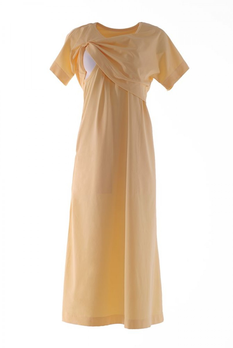 Платье арт. S200206 светло-желтое для беременных и кормления