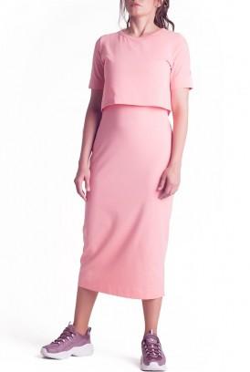 Сукня арт.S200301 рожева для вагітних і годування