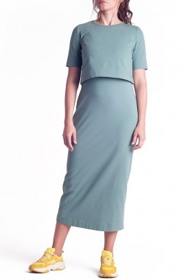 Сукня арт.S200303 оливкова для вагітних і годування