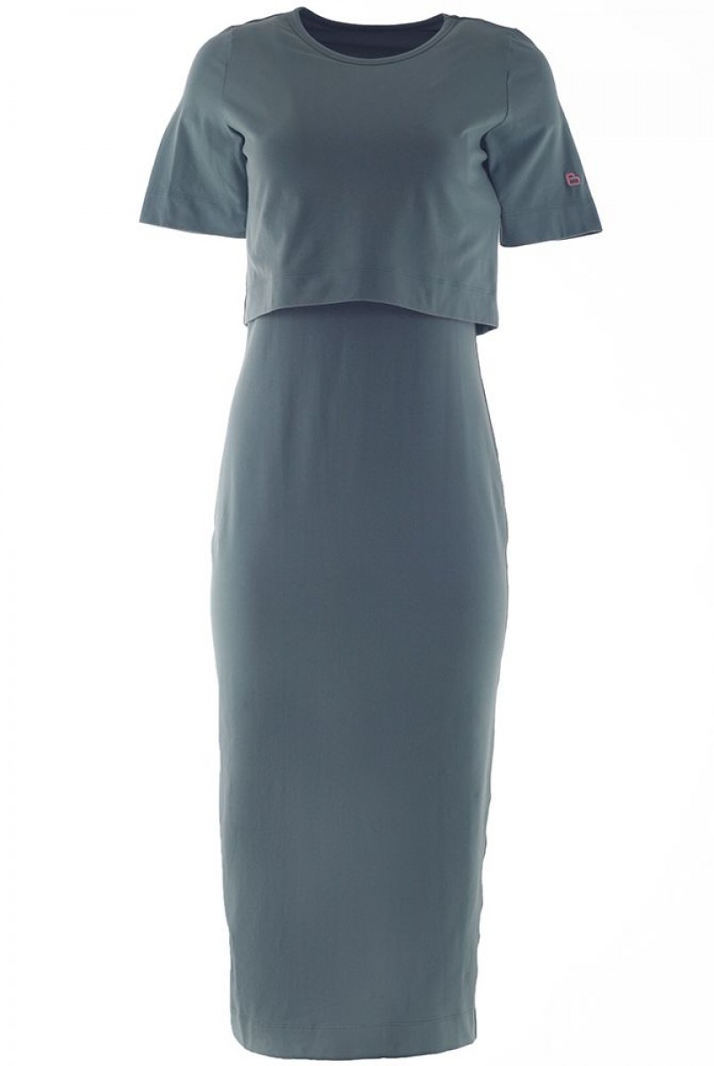 Платье арт.S200303 оливковое для беременных и кормления