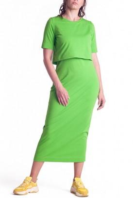 Сукня арт.S200304 салатова для вагітних і годування
