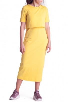Сукня арт.S200305 жовта для вагітних і годування
