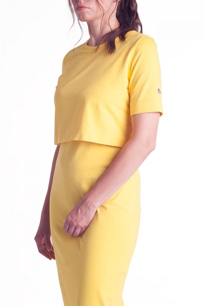 Платье арт.S200305 желтое для беременных и кормления