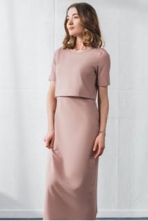 Платье арт.S200307 пыльная роза для беременных и кормления