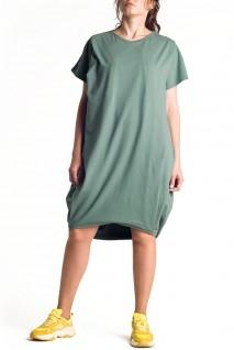 Платье арт. S200403 оливковое для беременных и кормления