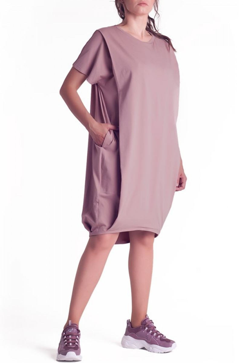 Платье арт. S200407 пыльная роза для беременных и кормления