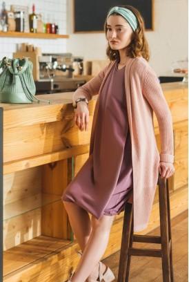 Сукня арт. S200408 пильно-фіолетова для вагітних і годування