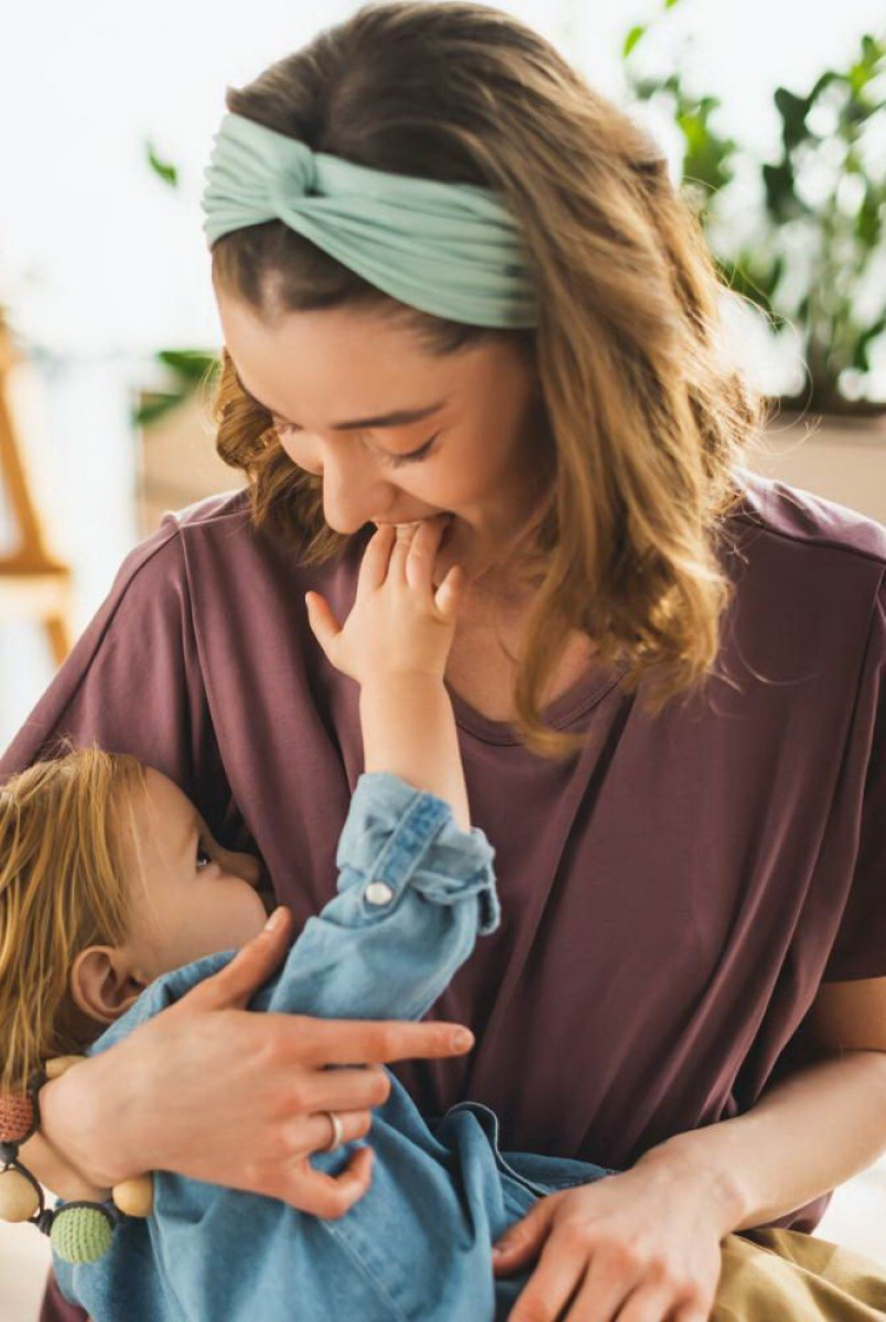 Платье арт. S200408 пыльно-фиолетовое для беременных и кормящих
