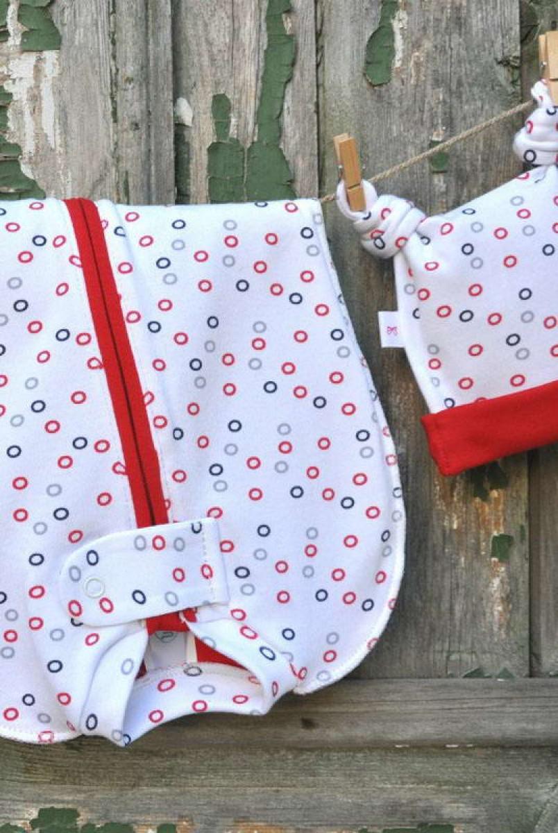 Євро пелюшка кокон на блискавці червоні колечка