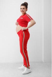 Штани червоні 1818 0629 для вагітних