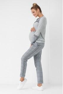 Штани сірі в клітинку 1864 1062 для вагітних