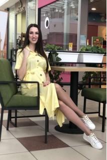 Сукня 1956 1097 лимонний для вагітних і годування