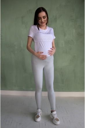 Лосини сірі 2063 0234 для вагітних
