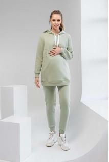 Спортивные штаны 2106 1427 фисташковый для беременных