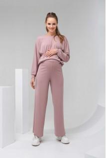 Штани 2129 1510 пудрово-рожевий для вагітних
