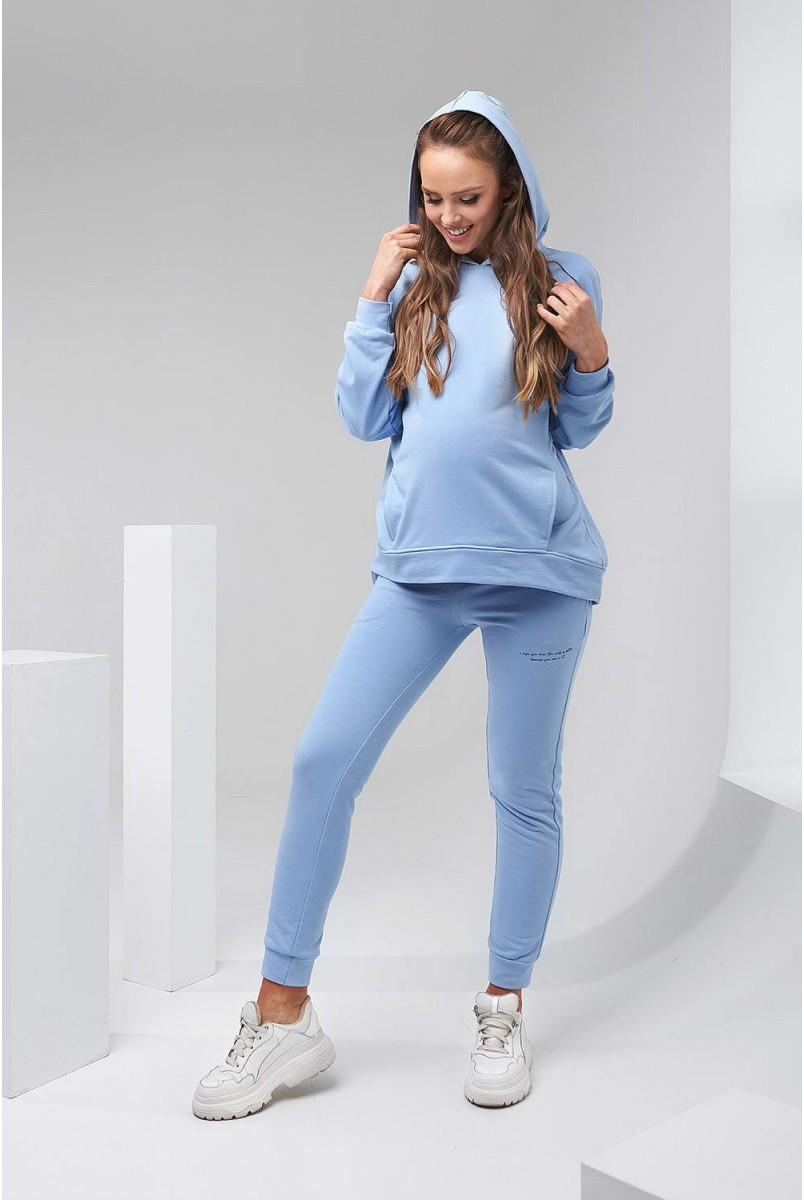 Штани 2136 1500 Блакитний для вагітних