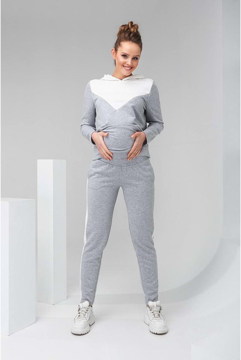 Штани 2147 1061 Сірий Для вагітних
